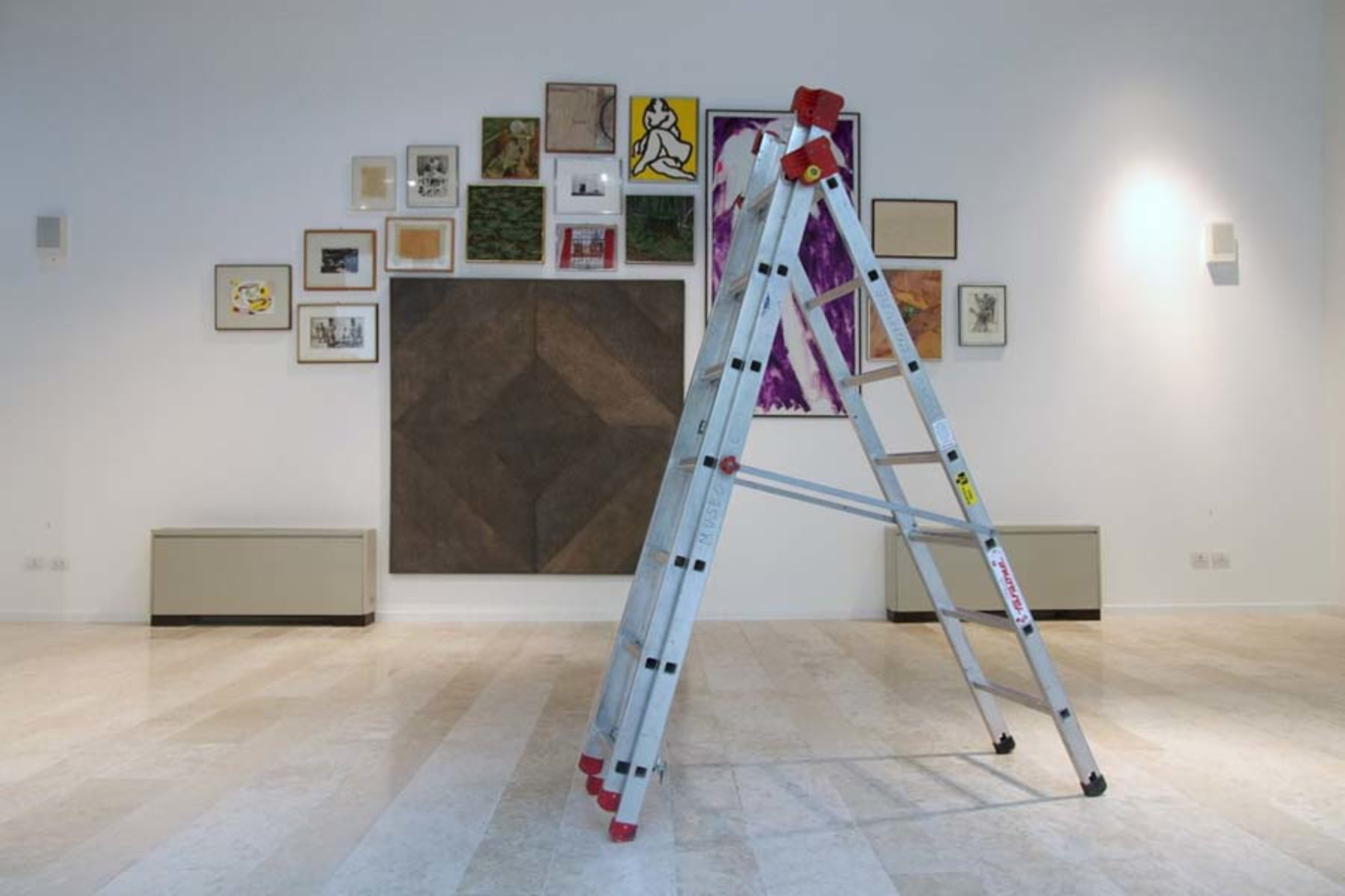 I. Moudov, 19 Problems, 18 Paintings, 2013, performance and site specific installation, 2