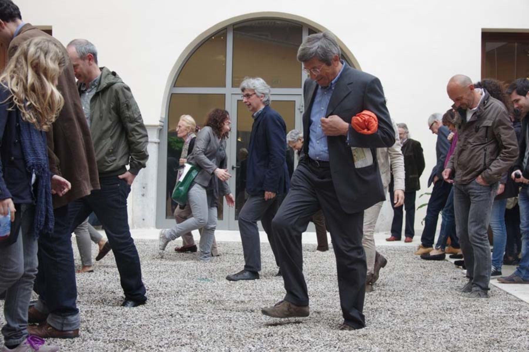 Ivan Moudov, Stones, 2013, stones, foam rubber, site specific installation