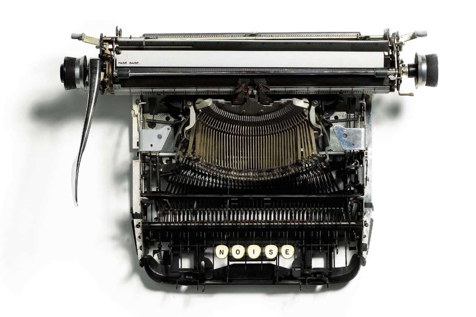 Jacopo Mazzonelli, Noise, 2010, typewriter, 44 x 31 x 13 cm
