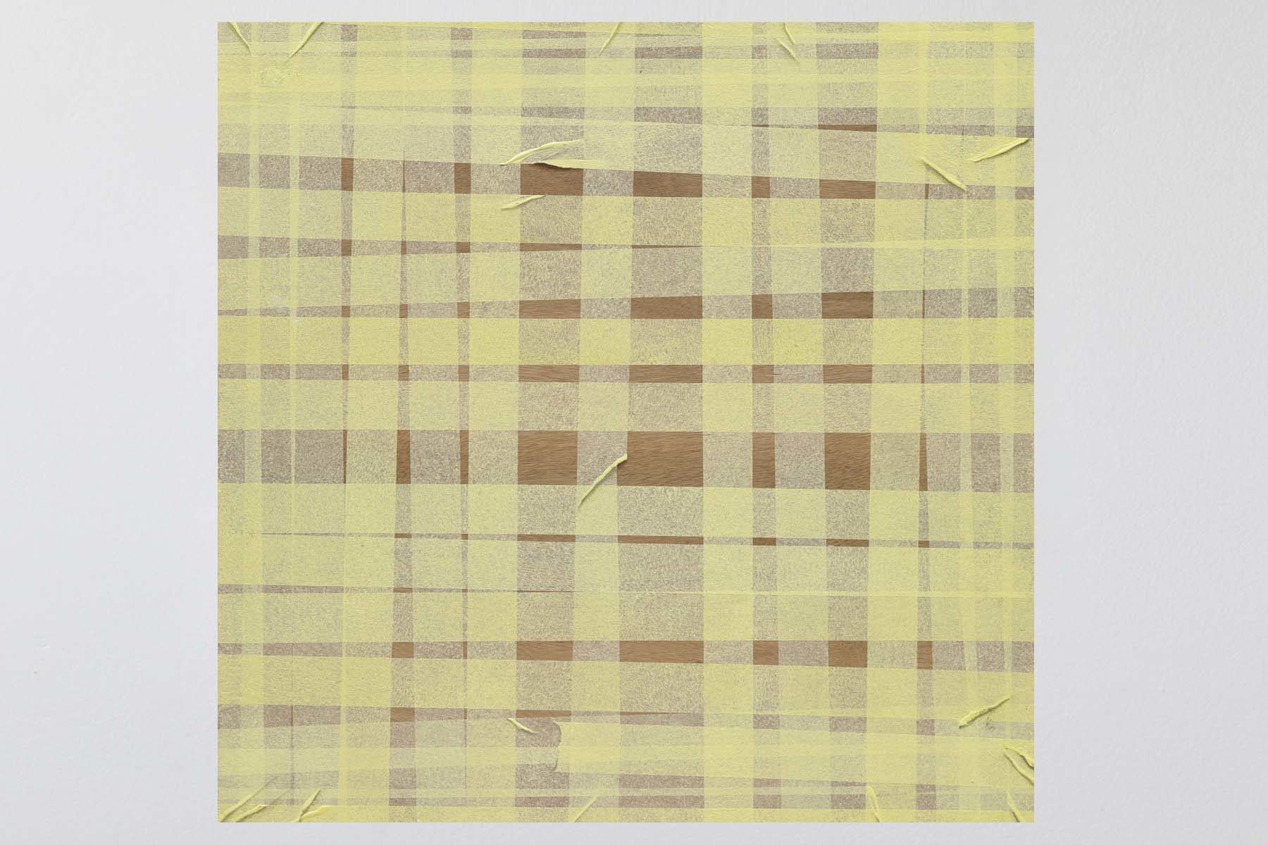 Jochen Mühlenbrink, Grid, 2014, Acrylics on wood, 50 x 50 cm
