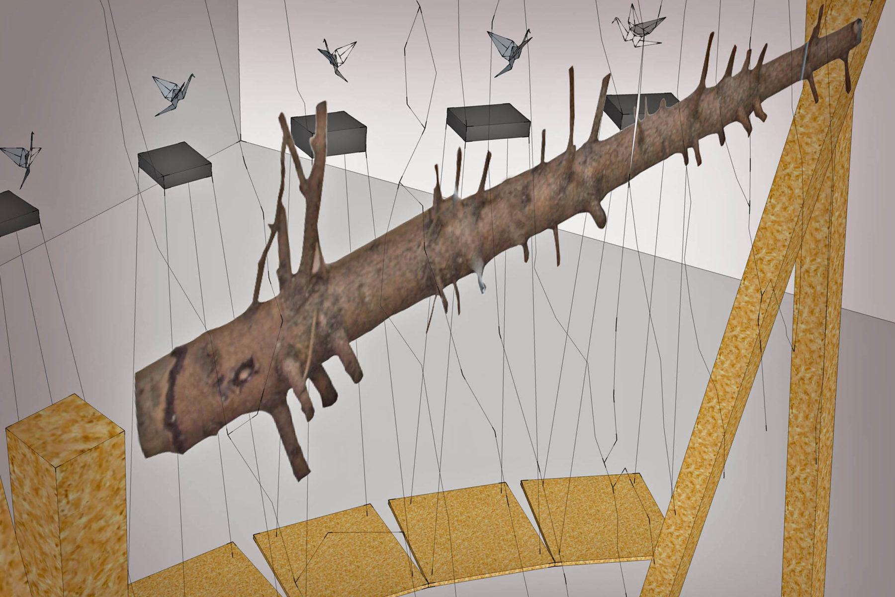 Leonardo Ulian, From zero to one, 2011, mixed media, dimensions according to exhibiting space.