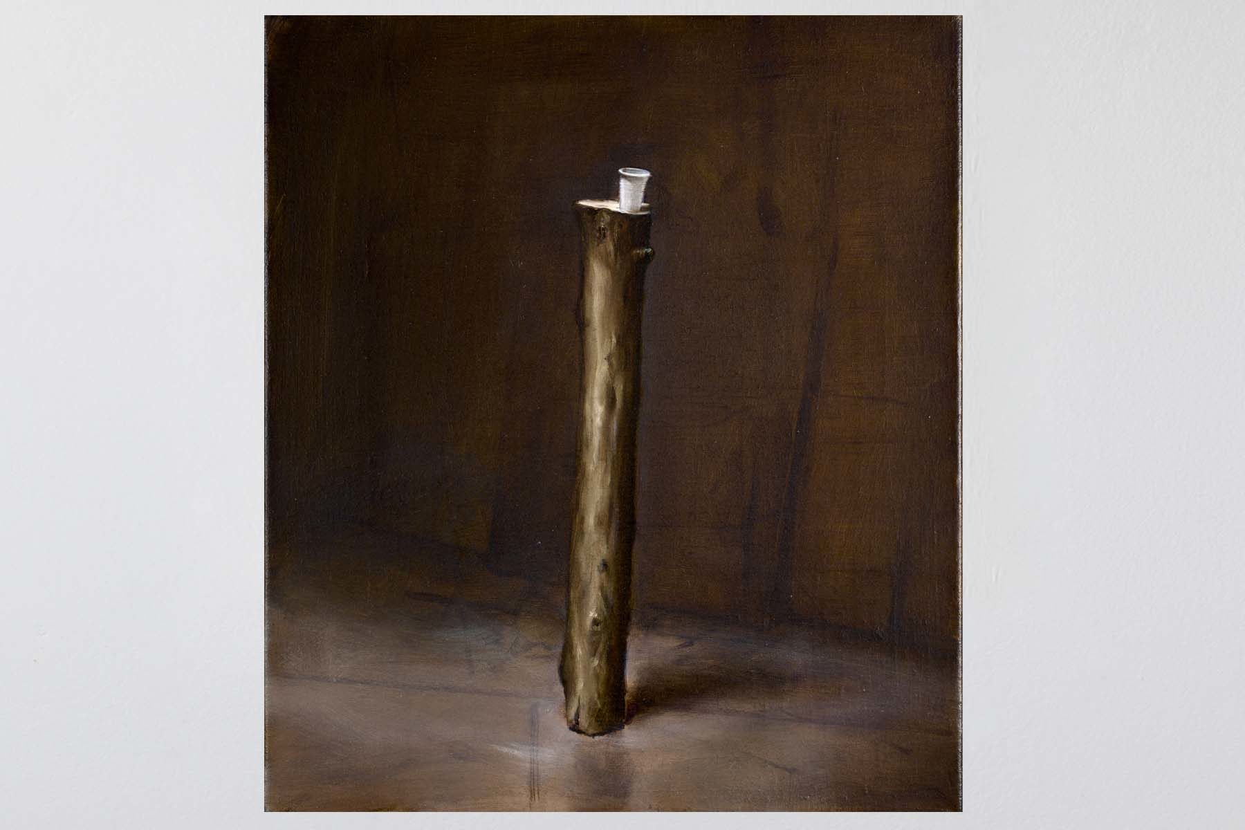 Manuele Cerutti, Ritratto di eroe, I, 2013-2014, oil on linen, 42 x 36 cm