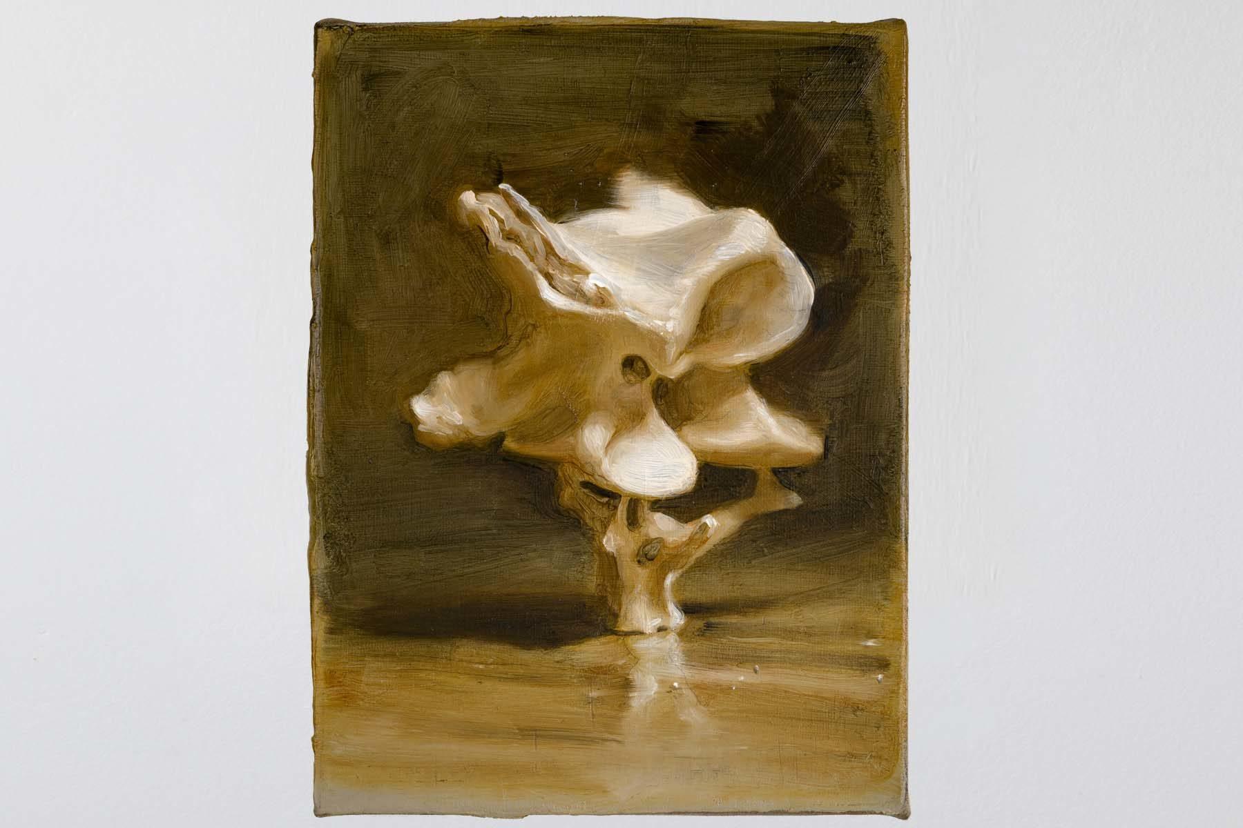 Manuele Cerutti, Tracce del mito, II, 2014, oil on canvas, 24.4 x 18.6 cm