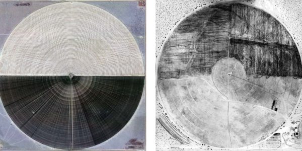 Marco Cadioli, Square with concentric circles (#44, #15), 2013, digital print on paper, 60 x 60 cm each