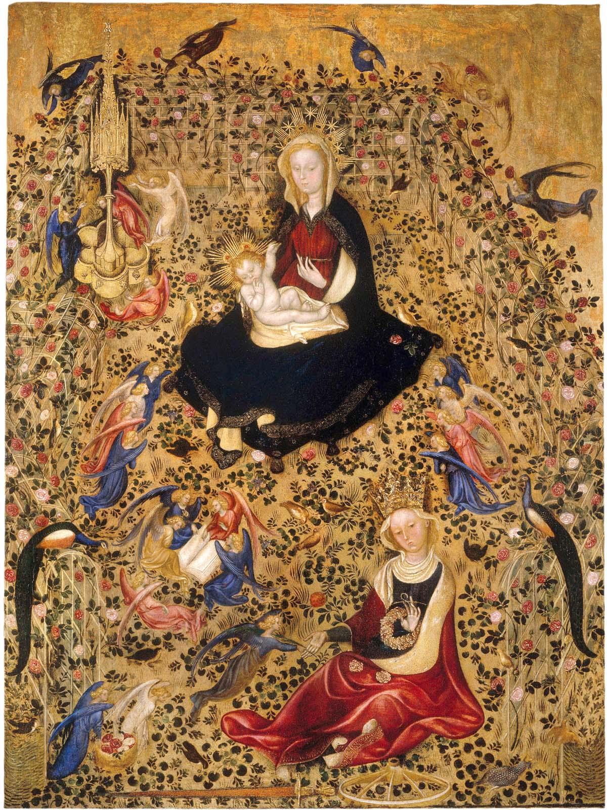 Michelino da Besozzo o Stefano da Zevio, Madonna del roseto, Castelvecchio,Verona
