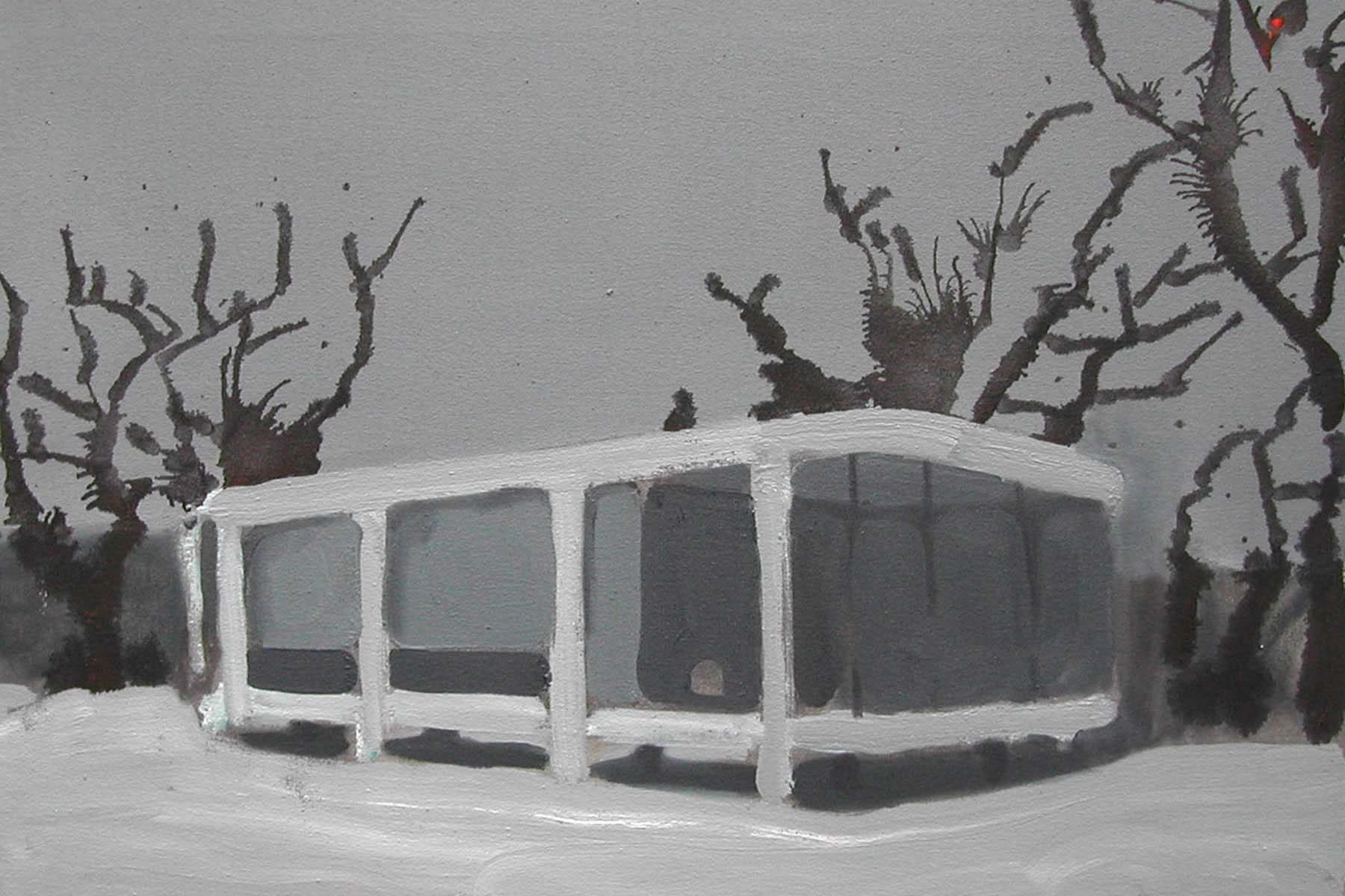 Nebojša Despotović, Concrete Chamber, 2010, olio su tela, 50 x 40 cm