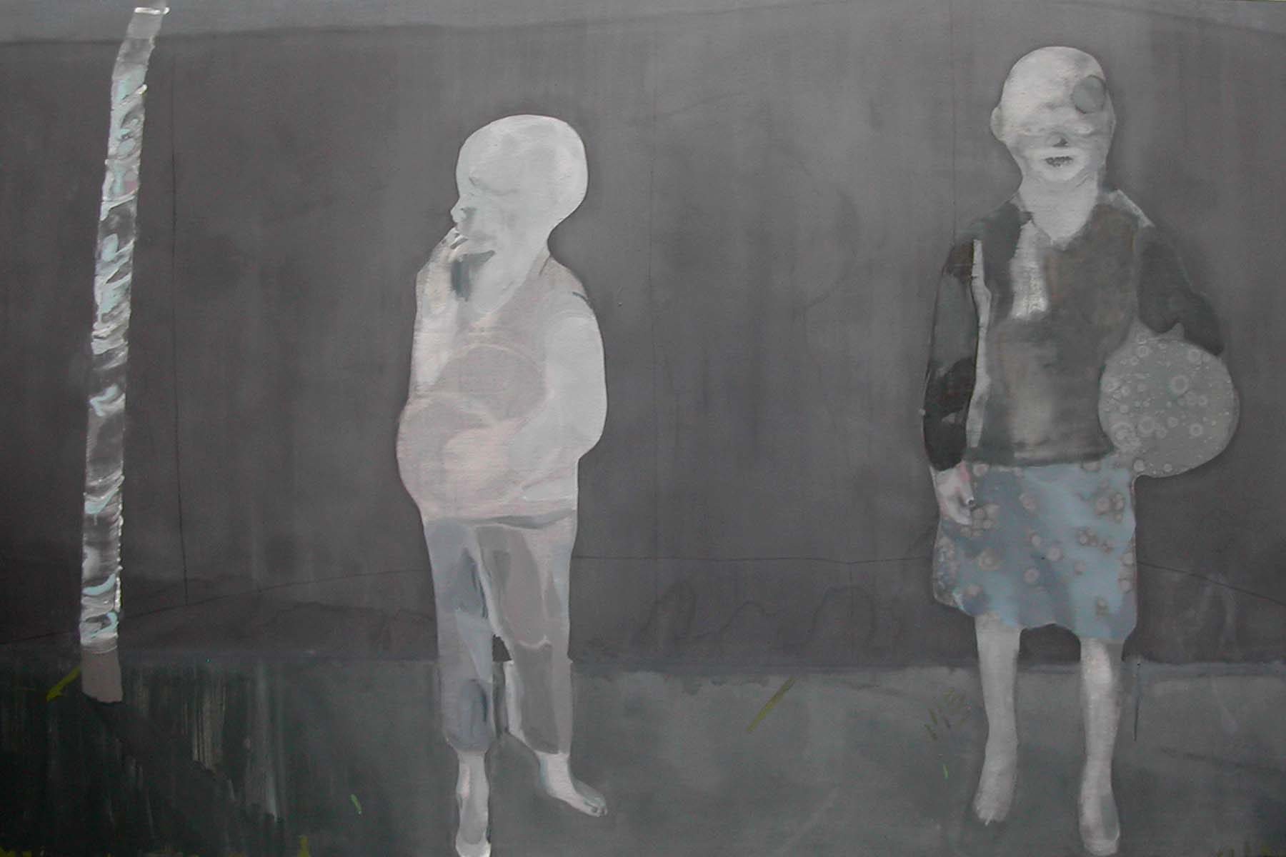 Nebojša Despotović, Illuminating Child, 2009, oil on canvas, 240 x 150 cm
