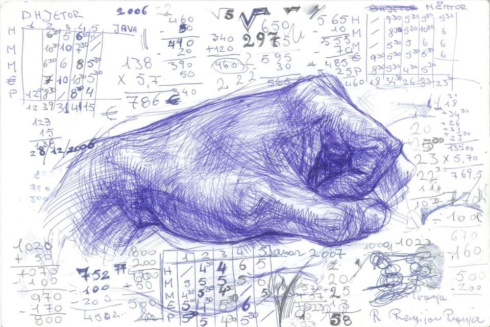 Remijon Pronja, Untitled, 2008, ink on paper, 30 x 40 cm