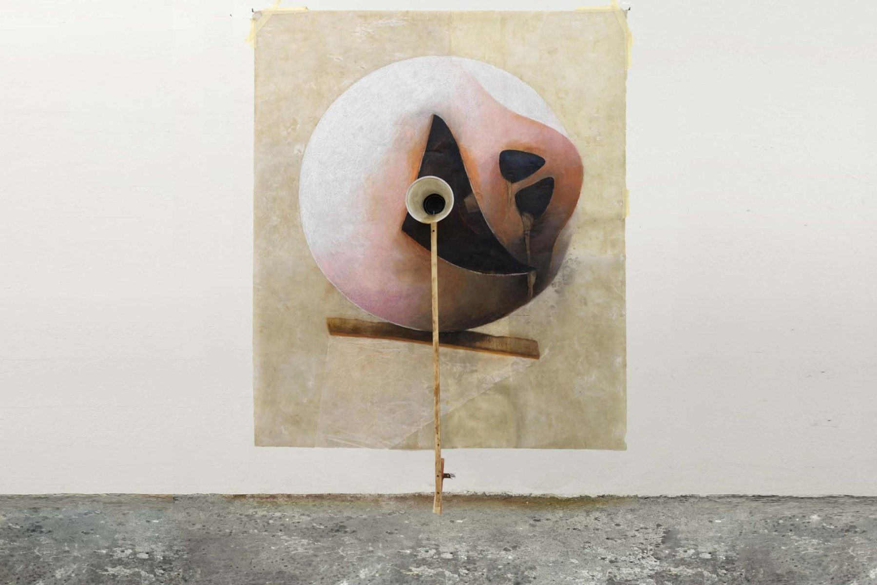 Silvano Tessarollo, Disegno che ride, 2011, mixed media, 128 x 166 x 31 cm