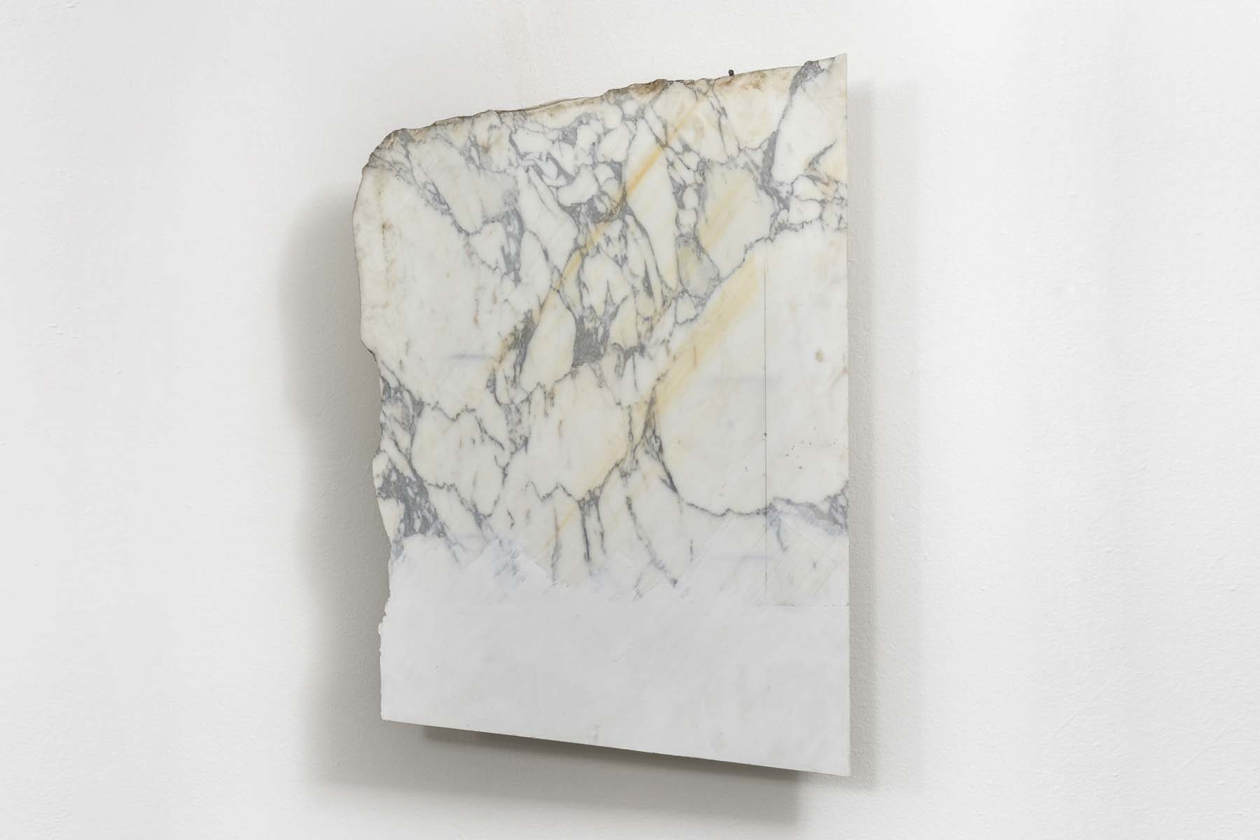 F. Prevedello, Untitled (63), 2011, marble, gypsum, iron, cm 98 x 67 x 17, courtesy of the artist and Cardelli & Fontana, ph. A. Ruzzier