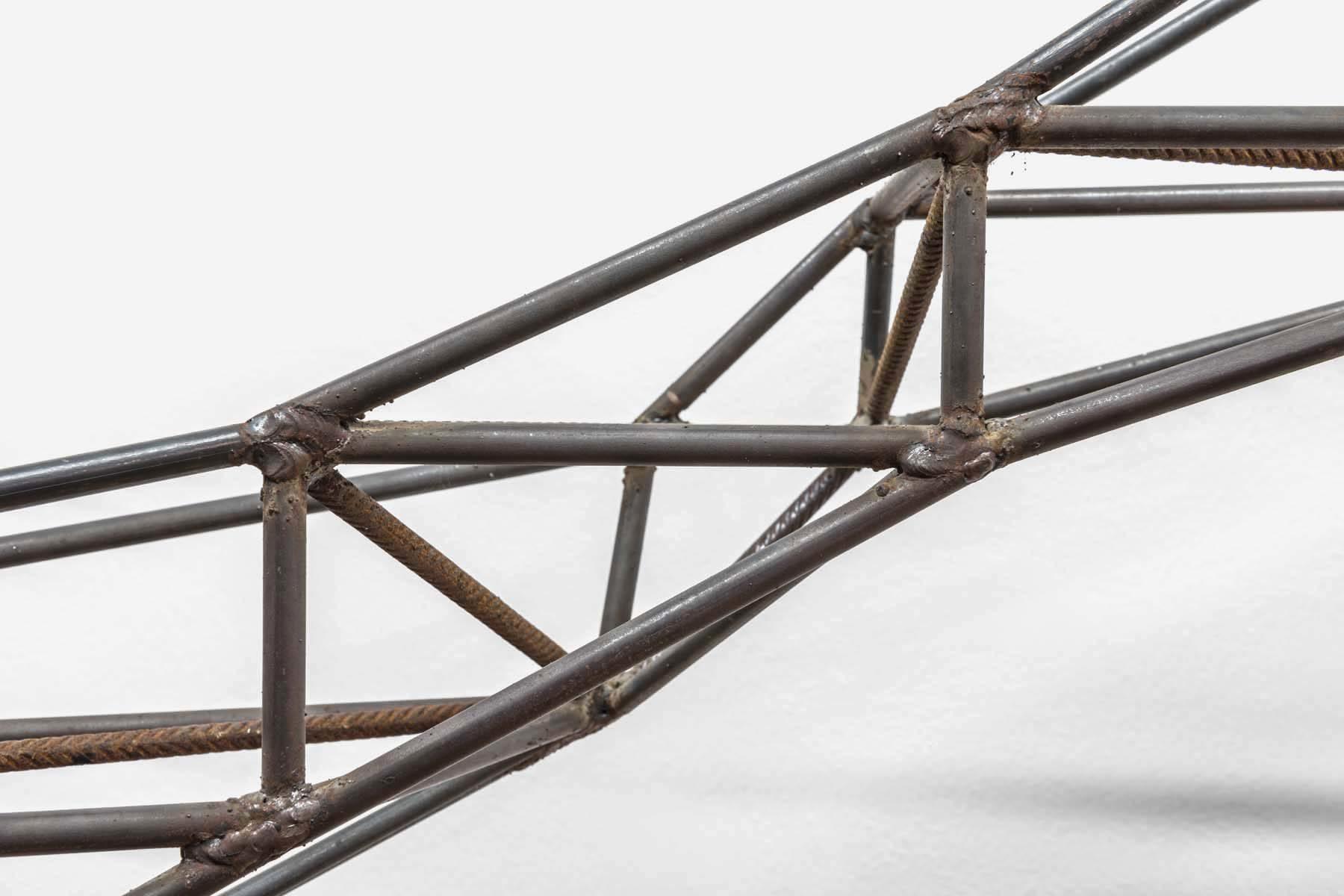 F. Prevedello, Schneller, weiter, höher aber wohin (109), particolare, 2014, iron, marble, welding, cm 314 x 325 x 102, courtesy of the artist and Cardelli & Fontana, ph. A. Ruzzier