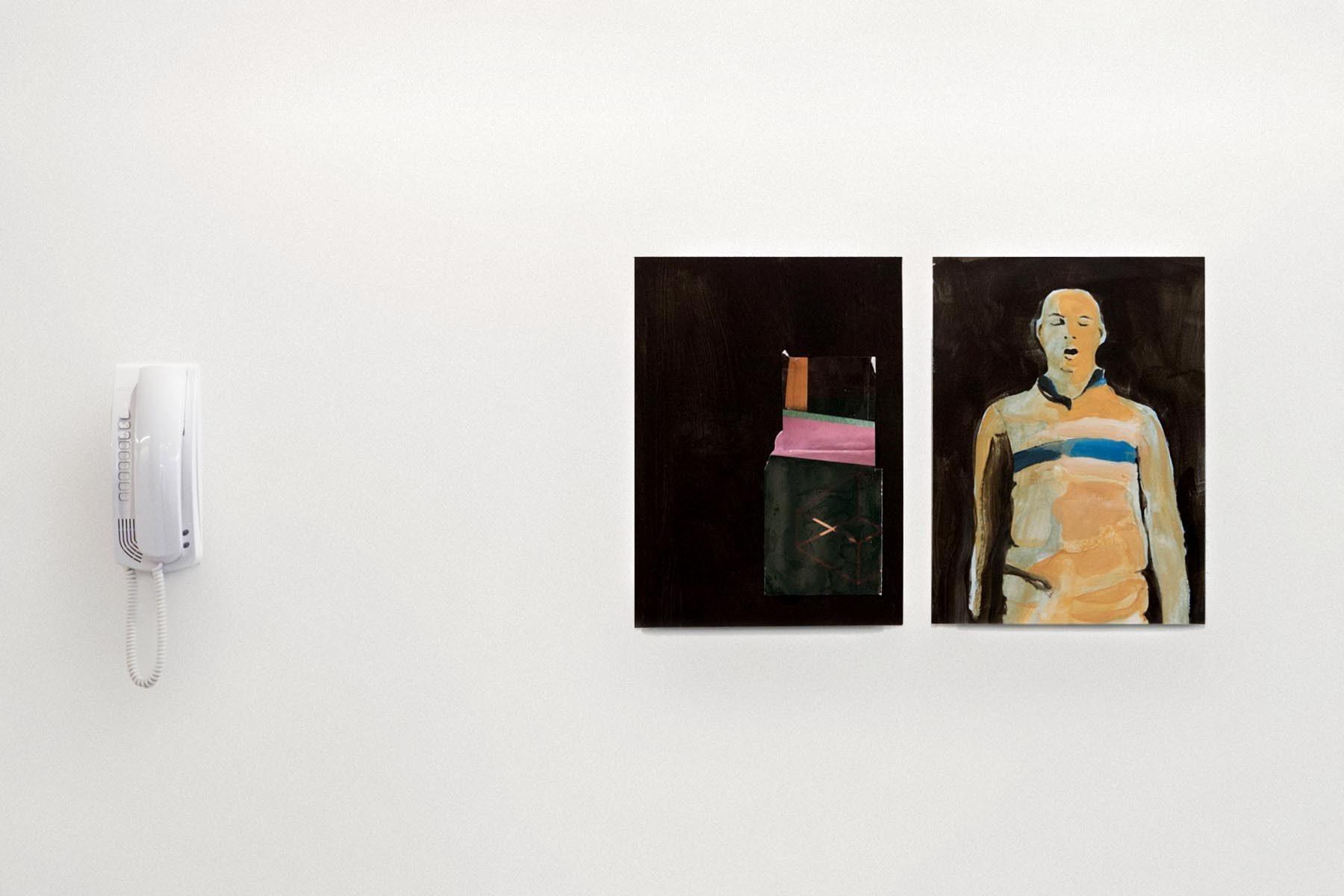 Raffaele Santillo, Pitture in attesa, vista della mostra, Ag. Generali, Pordenone, ph. N. Covre